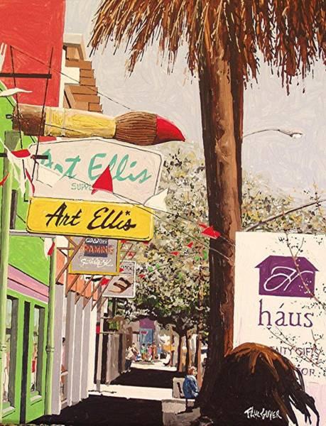 Art Ellis In Midtown Art Print by Paul Guyer