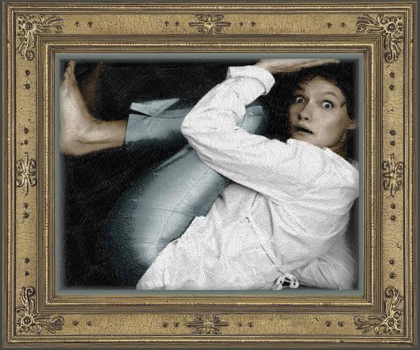 Painting - Art For The Sake Of Art Woman Framed 2 by Tony Rubino