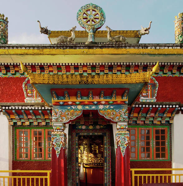 Wall Art - Photograph - Art In A Buddhist Monastery, Sikkim by Jaina Mishra