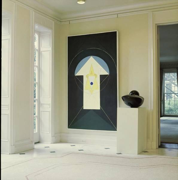 Modernist Photograph - Art In John D. Murchison's Hallway by Horst P. Horst