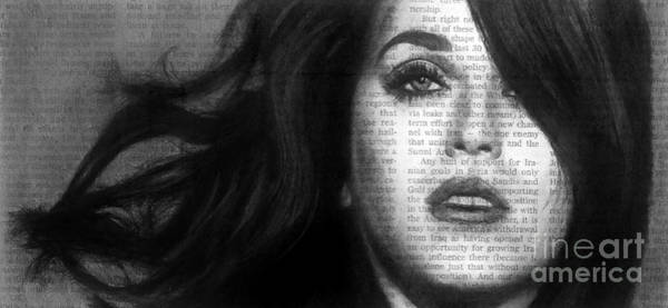 Drawing - Art In The News 37- Katy Perry by Michael Cross