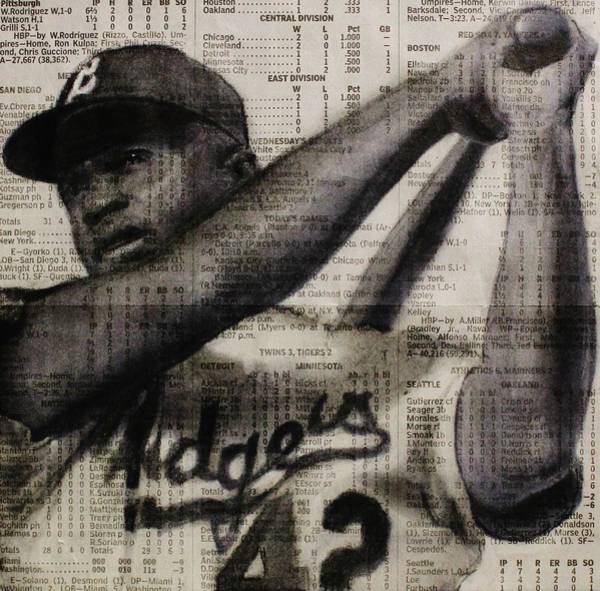Drawing - Art In Thenews 16-jackie by Michael Cross