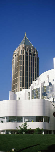 Fulton County Photograph - Art Museum In Front Of A Skyscraper by Panoramic Images