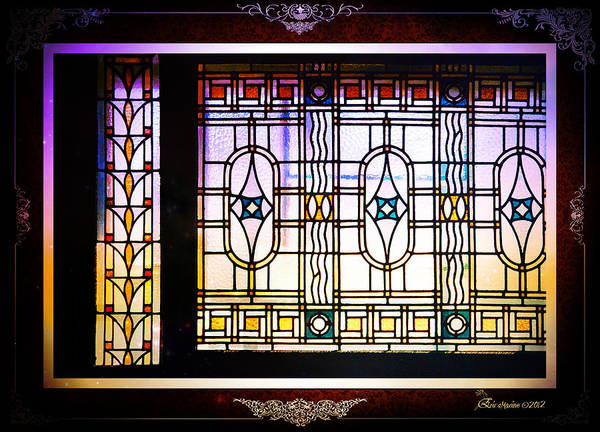 Photograph - Art-nouveau Stained Glass Window by Ericamaxine Price