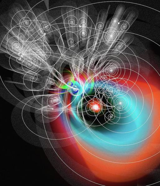 Subatomic Particle Photograph - Art Of Particle Tracks by Mehau Kulyk/science Photo Library
