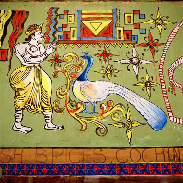 Kerala Mural Photograph - Symbolism Of The Orient by Shaun Higson