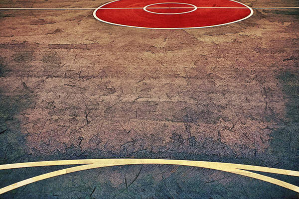 Photograph - Art On The Basketball Court IIi by Gary Slawsky