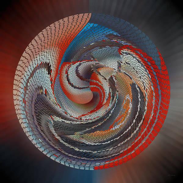 Digital Art - Art On The Bottom Of The Basket by rd Erickson