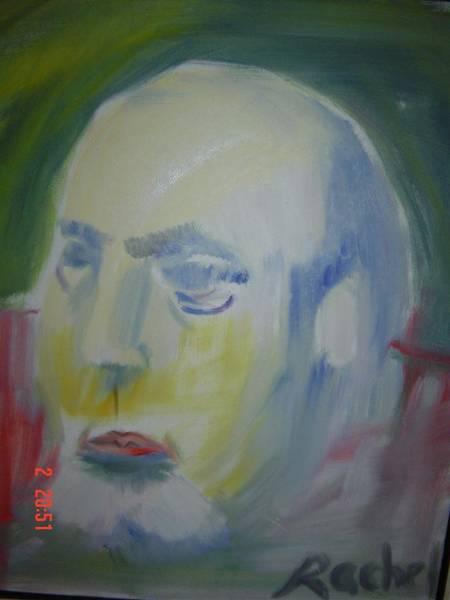 Upper Body Painting - Art Teacher by Havazelet Hasharon