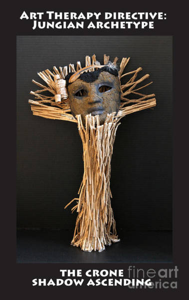 Mixed Media - Art Therapy Directive Archetype Mask by Anne Cameron Cutri