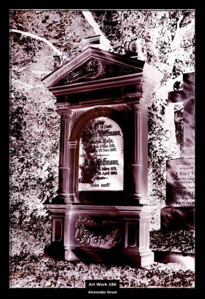The Undead Photograph - Art Work 186 Gravestone by Alexander Drum