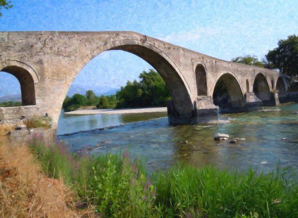 Painting - Arta Bridge Grk3212 by Dean Wittle