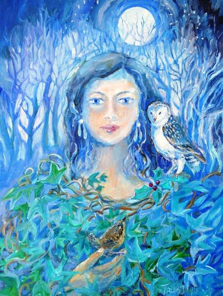 Wall Art - Painting - Artemis And The Wren- by Trudi Doyle