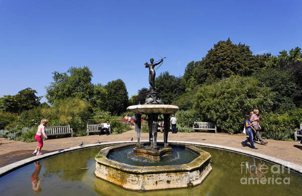 Artemis Photograph - Artemis With Bow Statue In Hyde Park London England by Robert Preston