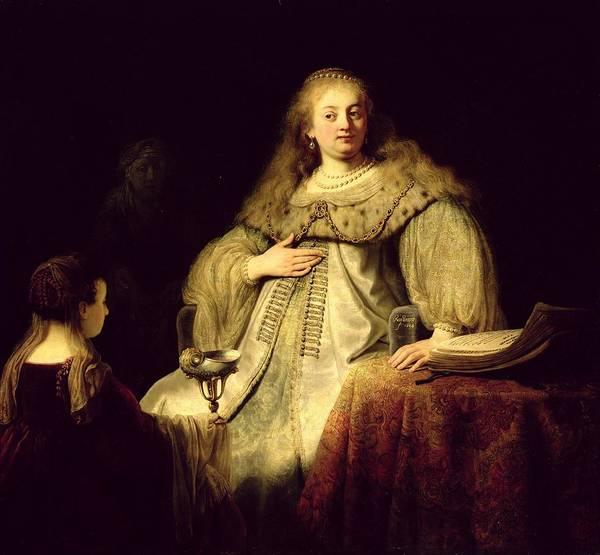 Pregnant Photograph - Artemisia, 1634 Oil On Canvas by Rembrandt Harmensz. van Rijn