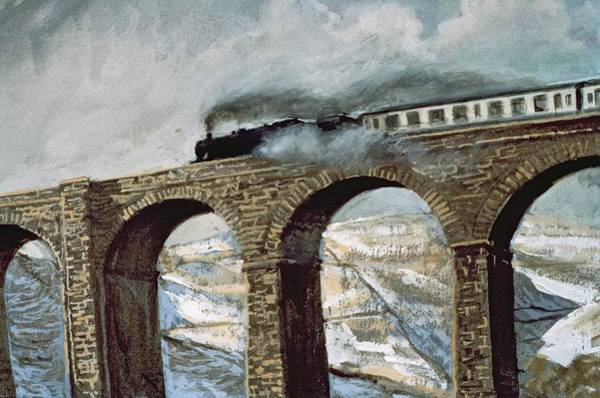 Wall Art - Photograph - Arten Gill Viaduct Gouache Detail by John Cooke