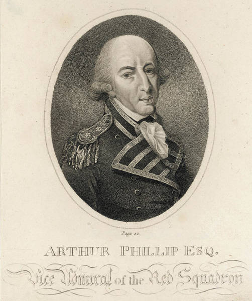 New South Wales Drawing - Arthur Phillip (1738 - 1814),  Naval by Mary Evans Picture Library