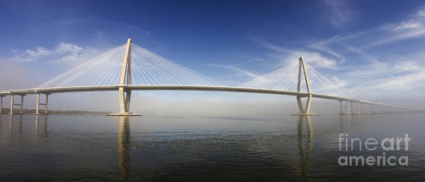 Cable-stayed Bridge Photograph - Arthur Ravenel Bridge Cooper River Charleston by Dustin K Ryan