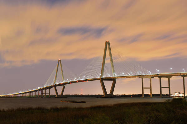Southern Usa Photograph - Arthur Ravenel Jr Bridge In Charleston by Aimintang