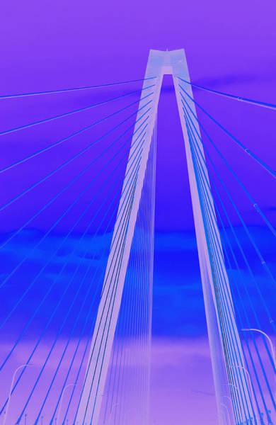 Turqoise Photograph - Arthur Ravenel Jr Bridge Iv by DigiArt Diaries by Vicky B Fuller