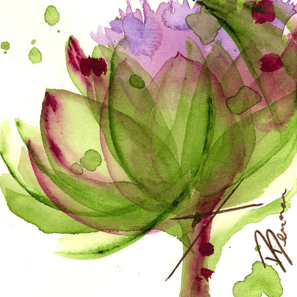 Painting - Artichoke Flower by Dawn Derman