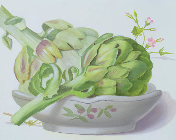 Artichoke Painting - Artichokes by Lizzie Riches