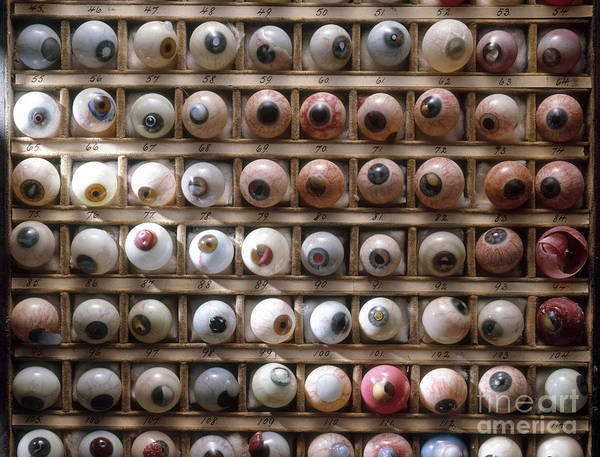 Photograph - Artificial Eyes  Disorders by Brooks Brown