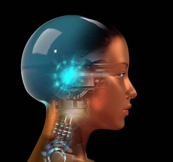 Consciousness Wall Art - Photograph - Artificial Intelligence by David Gifford/science Photo Library