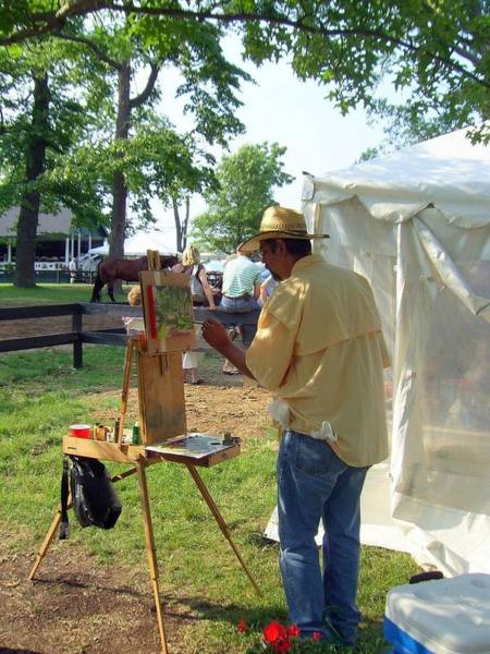 Artist At Upperville Art Print