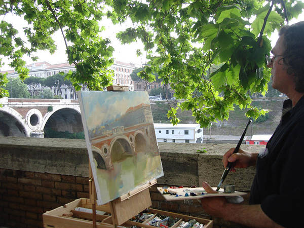 Show Photograph - Artist At Work Rome by Ylli Haruni