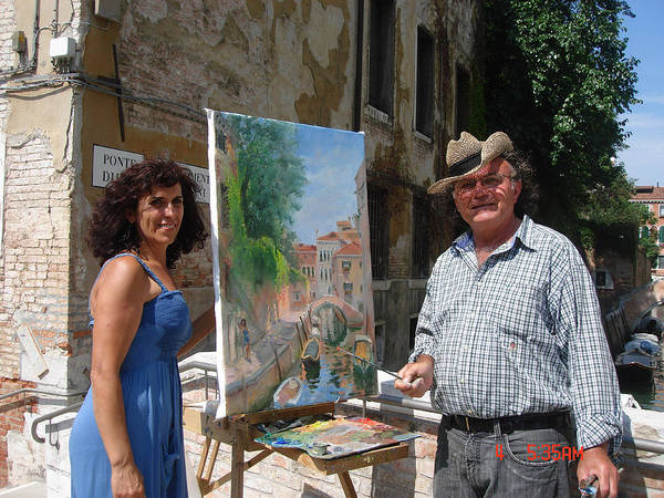 Show Photograph - Artist At Work Venice by Ylli Haruni