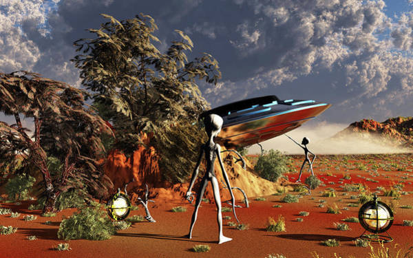 Ufology Photograph - Artist Concept Of The Roswell Incident by Mark Stevenson