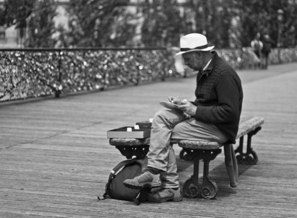 Photograph - Artist On The Bridge - Paris People Series by Georgia Fowler