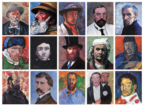 Painting - Artist Portraits Mosaic by Tom Roderick