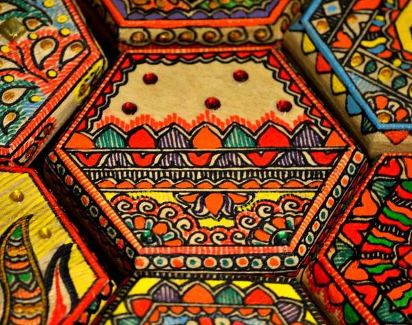 Madhubani Photograph - Artistic Hexagon by Deepti Mittal