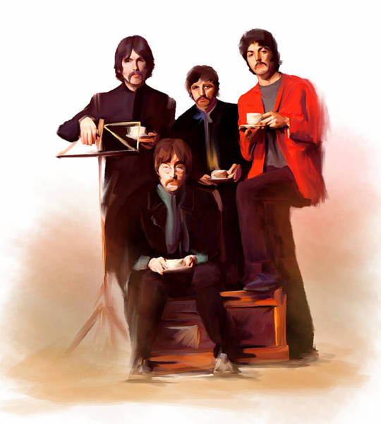 Painting - The Beatles Classic Fabs  by Iconic Images Art Gallery David Pucciarelli