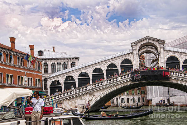 Lion Of St Mark Photograph - Artistic Rialto by Brenda Kean
