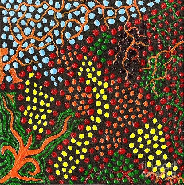 Aborigine Painting - Artist's Block by Vicki Maheu