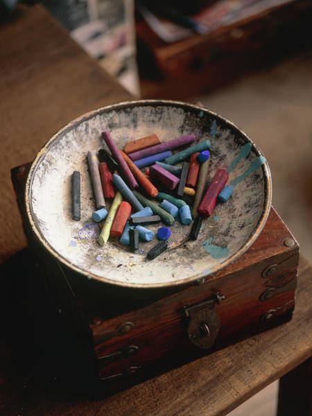 Pastel Drawing Photograph - Artist's Chalk Pastels by Claudia Dulak / Science Photo Library