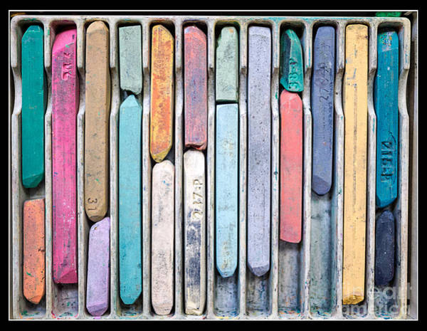 Photograph - Artists Chalks by Edward Fielding