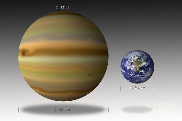 Digital Art - Artists Depiction Of The Size by Marc Ward