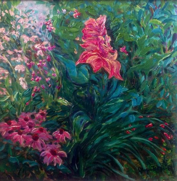 Painting - The Artist's Garden In Spring II by J Reynolds Dail