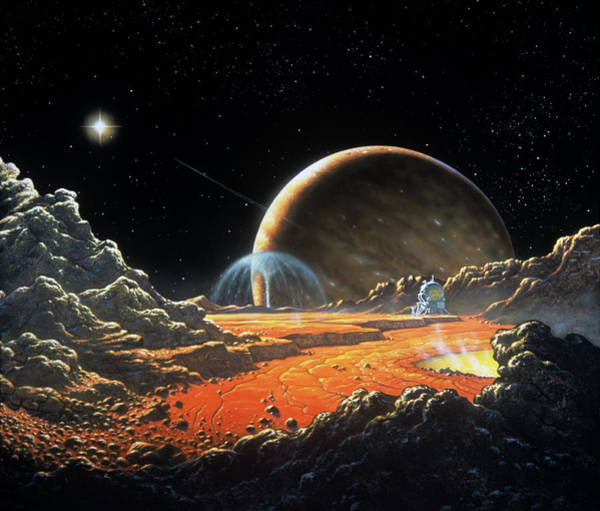 Impression Photograph - Artist's Impression Of Io by David Hardy/science Photo Library