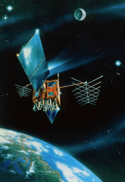 Wall Art - Photograph - Artist's Impression Of Navstar Gps Block 2r by Ge Astro Space/science Photo Library
