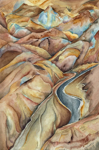 Death Valley Painting - Artists Palette by Lynne Bolwell
