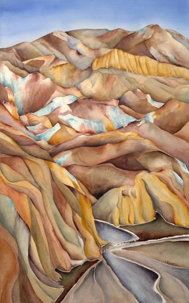 Death Valley Painting - Artists Palette Studio by Lynne Bolwell