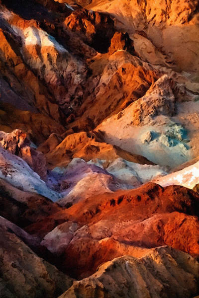 Painting - Artists Palette2 Death Valley National Park by Bob and Nadine Johnston
