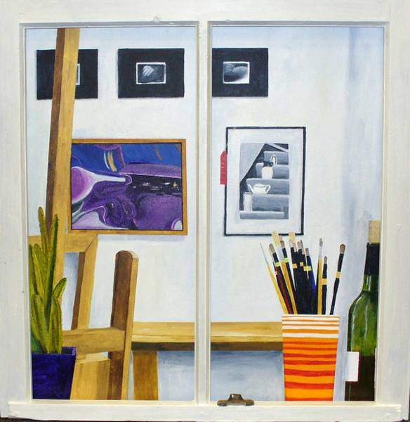 Painting - Artists Studio by Karin Thue