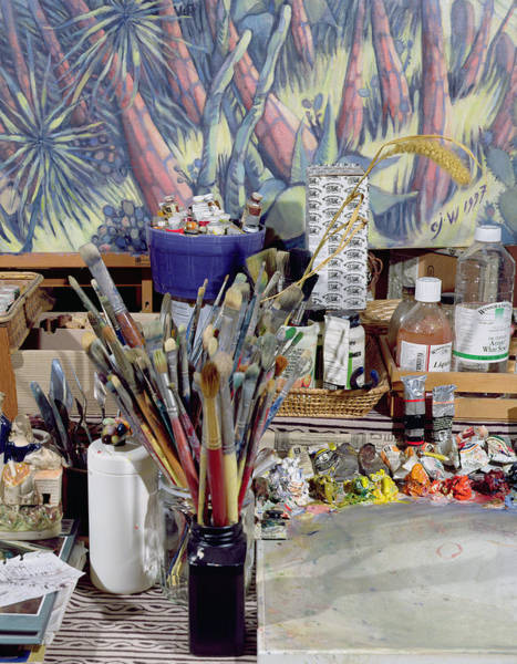 Palette Photograph - Artists Studio Photo by Charlotte Johnson Wahl