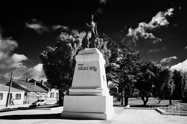 Prat Photograph - arturo prat monument memorial av colon Punta Arenas Chile by Joe Fox